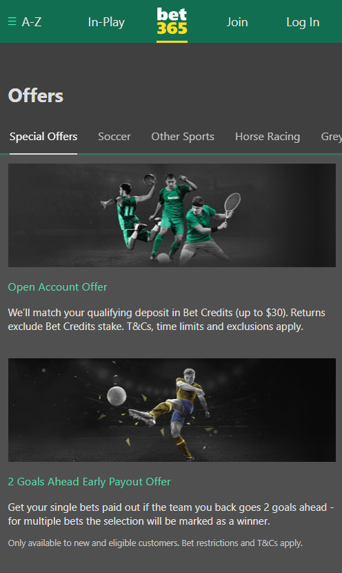 bet365 offers mobile