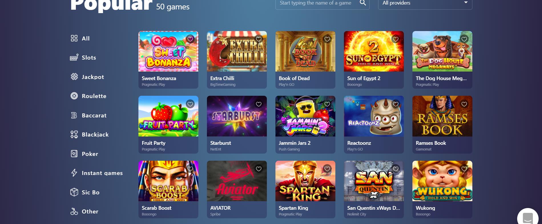 casinoin casinos desktop