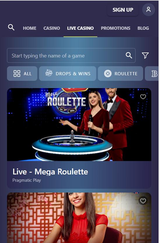 casinoin live casino mobile
