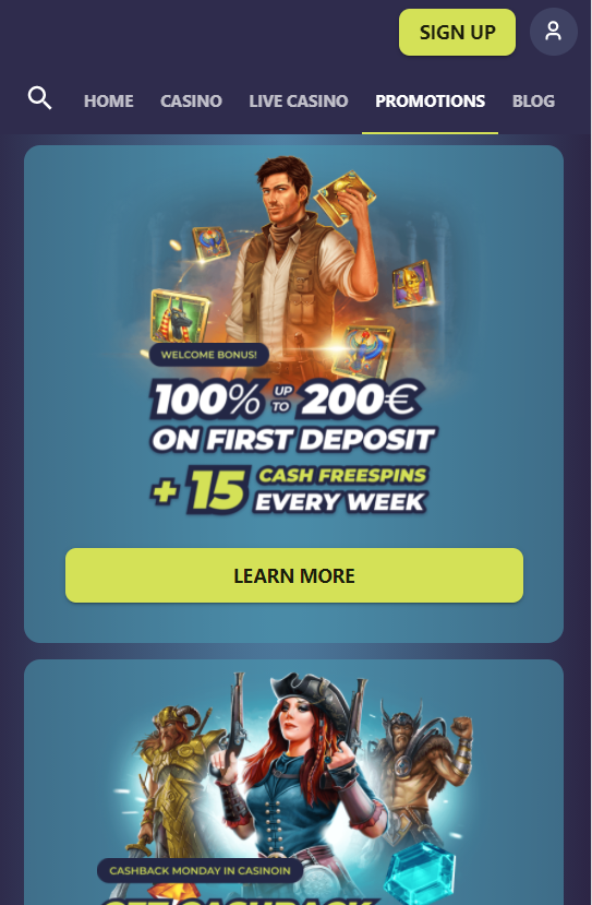 casinoin promo mobile